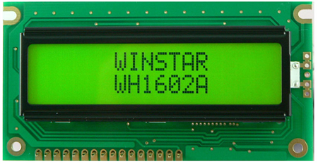 Display Winstar WH1602A3-YGH-EWK LCD Caracteres 16x2