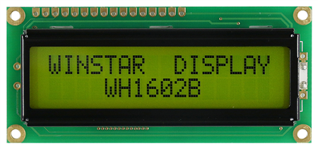 Display Winstar WH1602b-YGB-STK LCD Caracteres 16x2