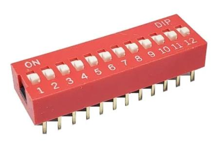 Dip Switch Vertical DIP SWITCH SW 12