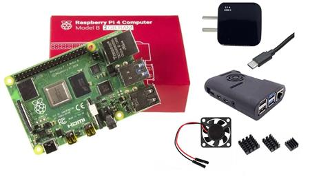 Kit Raspberry Pi 4 B 2gb Original + Fuente 3A + Gabinete + Cooler + Disip
