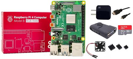Kit Raspberry Pi 4 B 8gb Original + Fuente 3A + Gabinete + Cooler + HDMI + Mem 32gb + Disip