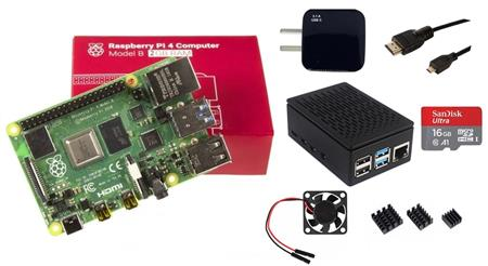 Kit Raspberry Pi 4 B 2gb Original + Fuente + Gabinete + Cooler + HDMI + Mem 16gb + Disip