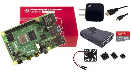 Kit Raspberry Pi 4 B 2gb Original + Fuente 3A + Gabinete + Cooler + HDMI + Mem 16gb + Disip