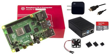 Kit Raspberry Pi 4 B 4gb Original + Fuente + Gabinete + Cooler + HDMI + Mem 16gb + Disip