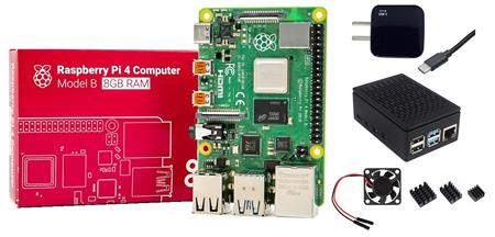 Kit Raspberry Pi 4 B 8gb Original + Fuente 3A + Gabinete + Cooler + Disip