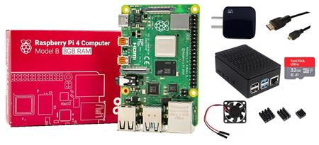 Kit Raspberry Pi 4 B 8gb + Fuente + Gabinete + Cooler + HDMI + Mem 32gb + Disip