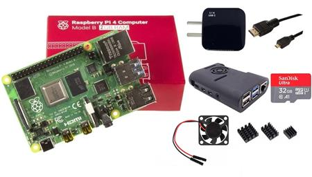 Kit Raspberry Pi 4 B 2gb Original + Fuente 3A + Gabinete + Cooler + HDMI + Mem 32gb + Disip