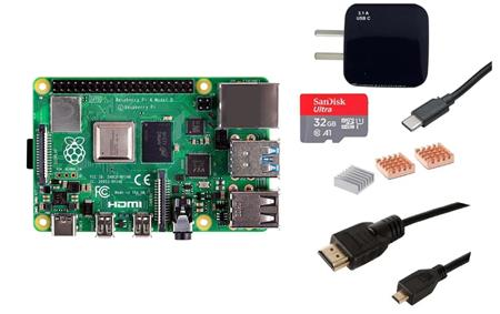 Kit Raspberry Pi 4 B 8gb Original + Fuente + HDMI + Mem 32gb + Disip