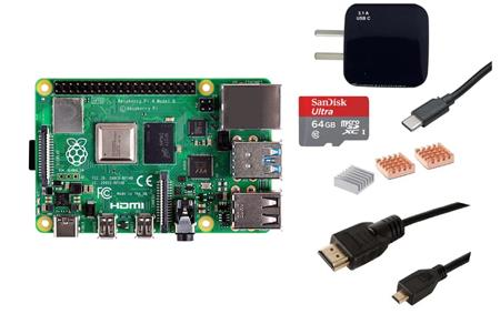 Kit Raspberry Pi 4 B 8gb Original + Fuente + HDMI + Mem 64gb + Disip