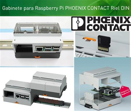 Gabinete Raspberry Pi 3 Phoenix Contact Rpibc Riel Din Pared