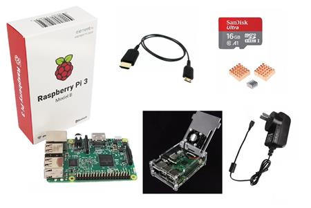 Raspberry Pi 3 B Plus Kit Consola Retro Para Armar 16gb