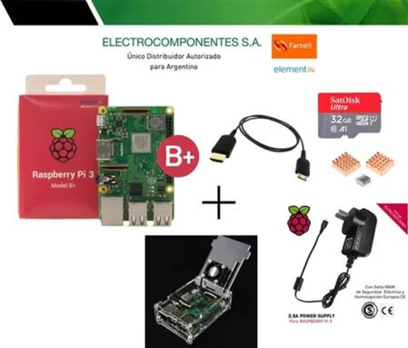 Raspberry Pi 3 B+ Plus Kit Consola Retro Para Armar 32gb