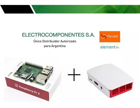 Kit Raspberry Pi 3 Element14 + Gabinete Blanco Origina