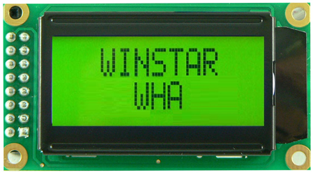 Display Winstar WH0802A-YYB-ST LCD Caracteres 8x2