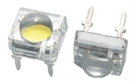 Led Piraña 7,6x7,6mm Amarillo Water Clear