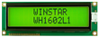 Display Winstar WH1602L1-YYH-ET LCD Caracteres 16x2